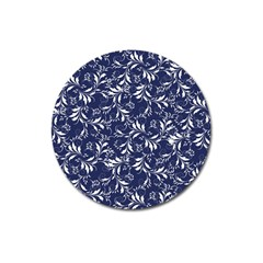 Fancy Floral Pattern Magnet 3  (round) by tarastyle