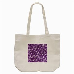 Fancy Floral Pattern Tote Bag (cream)