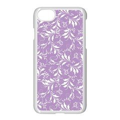 Fancy Floral Pattern Apple Iphone 8 Seamless Case (white)
