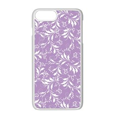 Fancy Floral Pattern Apple Iphone 8 Plus Seamless Case (white)