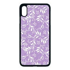 Fancy Floral Pattern Apple Iphone Xs Max Seamless Case (black) by tarastyle