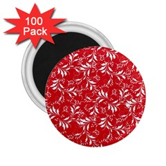 Fancy Floral Pattern 2 25  Magnets (100 Pack)  by tarastyle