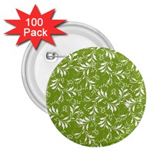 Fancy Floral Pattern 2 25  Buttons (100 Pack)  by tarastyle