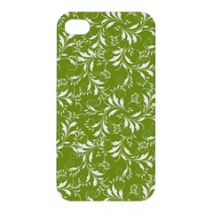 Fancy Floral Pattern Apple Iphone 4/4s Premium Hardshell Case by tarastyle