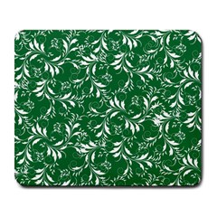 Fancy Floral Pattern Large Mousepads