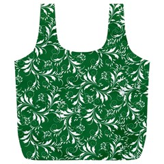 Fancy Floral Pattern Full Print Recycle Bag (xl)
