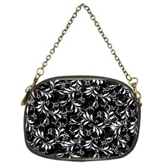 Fancy Floral Pattern Chain Purse (two Sides)