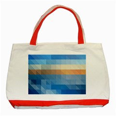 Static Graphic Geometric Classic Tote Bag (red)