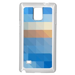 Static Graphic Geometric Samsung Galaxy Note 4 Case (white)