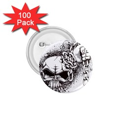 Skull And Crossbones 1 75  Buttons (100 Pack)  by Alisyart