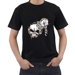 Skull And Crossbones Men s T Shirt (black) (two Sided) by Alisyart