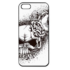 Skull And Crossbones Apple Iphone 5 Seamless Case (black)