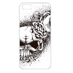 Skull And Crossbones Apple Iphone 5 Seamless Case (white)