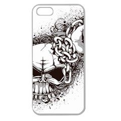 Skull And Crossbones Apple Seamless Iphone 5 Case (clear)