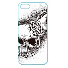 Skull And Crossbones Apple Seamless Iphone 5 Case (color)