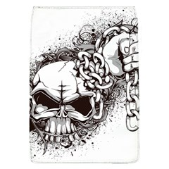 Skull And Crossbones Removable Flap Cover (l)