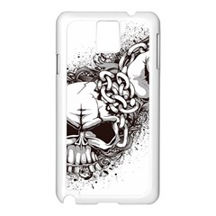 Skull And Crossbones Samsung Galaxy Note 3 N9005 Case (white)