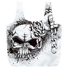 Skull And Crossbones Full Print Recycle Bag (xl)