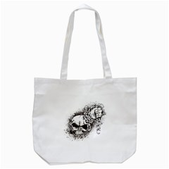 Skull And Crossbones Tote Bag (white)