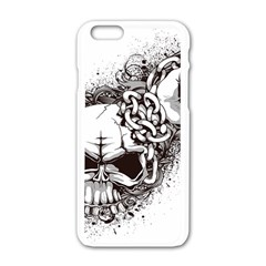 Skull And Crossbones Apple Iphone 6/6s White Enamel Case