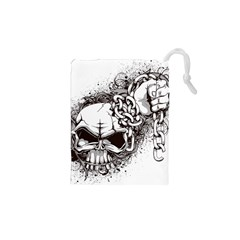 Skull And Crossbones Drawstring Pouch (xs)