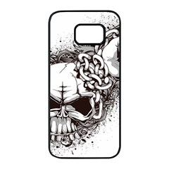 Skull And Crossbones Samsung Galaxy S7 Edge Black Seamless Case by Alisyart