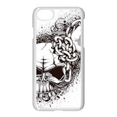 Skull And Crossbones Apple Iphone 7 Seamless Case (white)