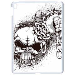 Skull And Crossbones Apple Ipad Pro 9 7   White Seamless Case