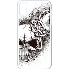 Skull And Crossbones Apple Iphone Xs Seamless Case (white)