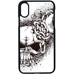 Skull And Crossbones Apple Iphone Xs Seamless Case (black)