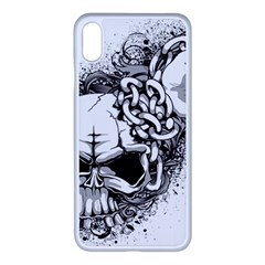 Skull And Crossbones Apple Iphone Xs Max Seamless Case (white)