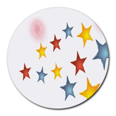 Star Rainbow Round Mousepads