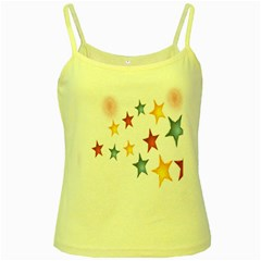 Star Rainbow Yellow Spaghetti Tank