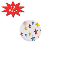 Star Rainbow 1  Mini Buttons (10 Pack)