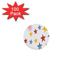 Star Rainbow 1  Mini Buttons (100 Pack)