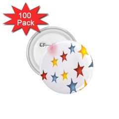 Star Rainbow 1 75  Buttons (100 Pack)