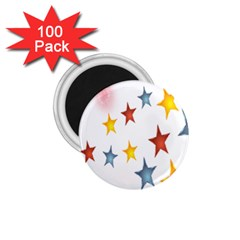 Star Rainbow 1 75  Magnets (100 Pack)