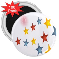 Star Rainbow 3  Magnets (100 Pack)