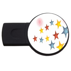 Star Rainbow Usb Flash Drive Round (2 Gb)