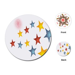 Star Rainbow Playing Cards (round)