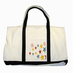 Star Rainbow Two Tone Tote Bag