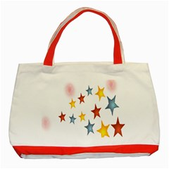 Star Rainbow Classic Tote Bag (red)
