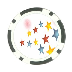 Star Rainbow Poker Chip Card Guard (10 Pack)