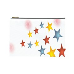 Star Rainbow Cosmetic Bag (large)