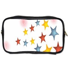 Star Rainbow Toiletries Bag (two Sides)