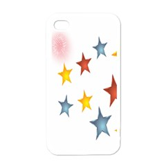 Star Rainbow Apple Iphone 4 Case (white)