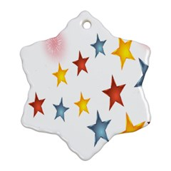 Star Rainbow Snowflake Ornament (two Sides)