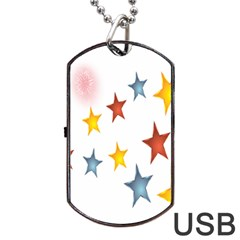 Star Rainbow Dog Tag Usb Flash (two Sides)