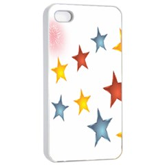 Star Rainbow Apple Iphone 4/4s Seamless Case (white)