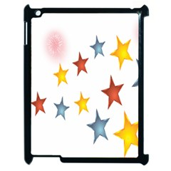 Star Rainbow Apple Ipad 2 Case (black)